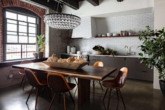 Кухня в стиле лофт - эффектно и стильно