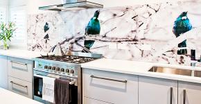 Что нужно знать о технологии фотопечати на кухонных фартуках? фото