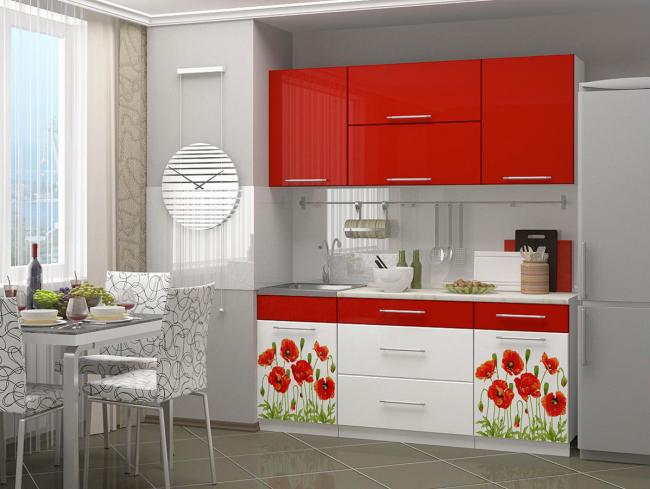 Фотопечать - идеальный способ украсить монохромный гарнитур в кухне