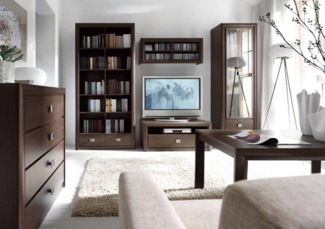 Элитная модель корпусной мебели для гостиной - Хемнэс