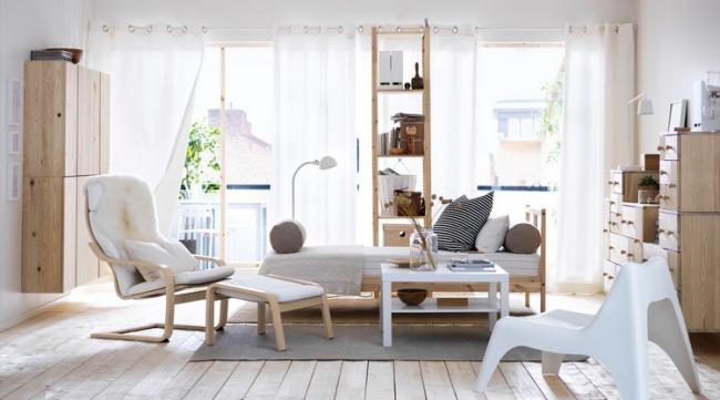Мебель, позволяющая хранить вещи как в открытую, так и недоступными для всеобщего обозрения