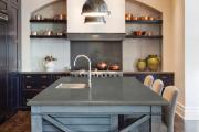Фото 12 Варианты функциональной планировки и дизайн интерьера кухни 17 кв. метров