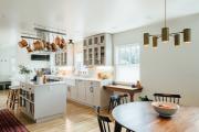 Фото 27 Варианты функциональной планировки и дизайн интерьера кухни 17 кв. метров