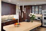 Фото 35 Варианты функциональной планировки и дизайн интерьера кухни 17 кв. метров