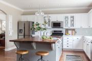 Фото 36 Варианты функциональной планировки и дизайн интерьера кухни 17 кв. метров