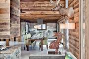 Фото 6 Альпийская романтика: 60+ теплых и уютных фотоидей для кухни в стиле шале