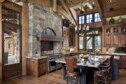 Фото 18 Альпийская романтика: 60+ теплых и уютных фотоидей для кухни в стиле шале