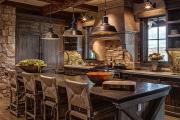 Фото 20 Альпийская романтика: 60+ теплых и уютных фотоидей для кухни в стиле шале