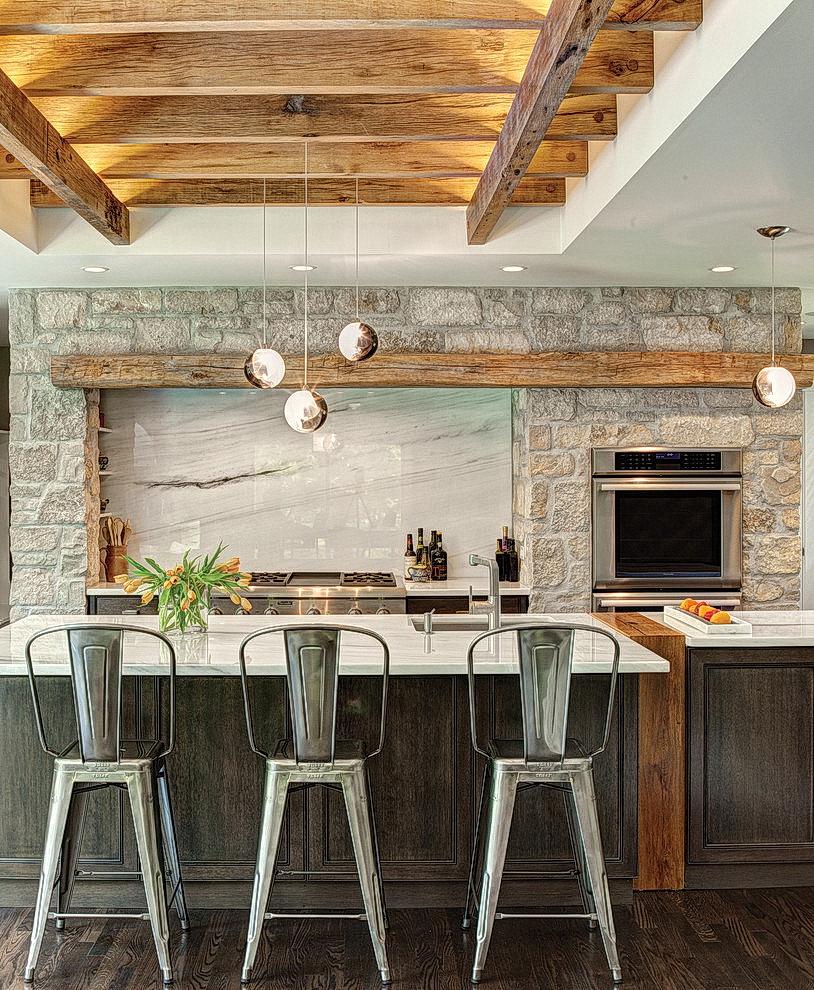 Дизайн кухни в стиле шале 65 фото интерьеров ♥️ Романтика Альп