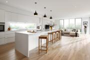 Фото 16 Дизайн кухни вдоль окна (60+ фото и идей планировки): безусловный стиль и эргономика