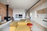 Фото 6 Планировка и дизайн для кухни-гостиной площадью 25 кв. метров