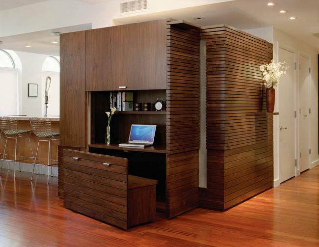 Встроенное рабочее место в мебельный гарнитур