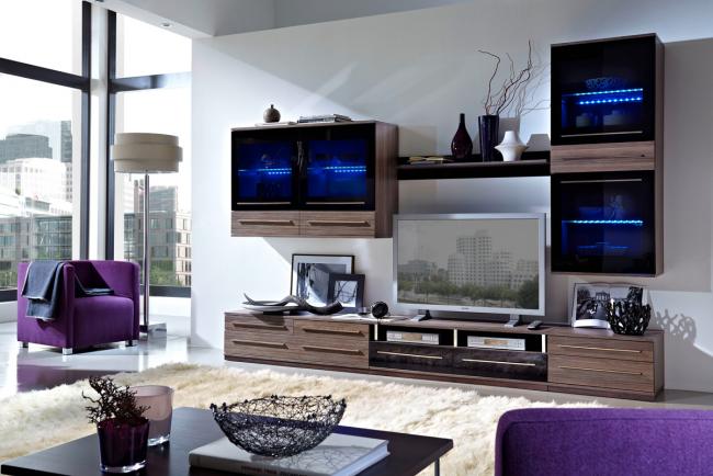 LED-подсветка в дизайне мебели