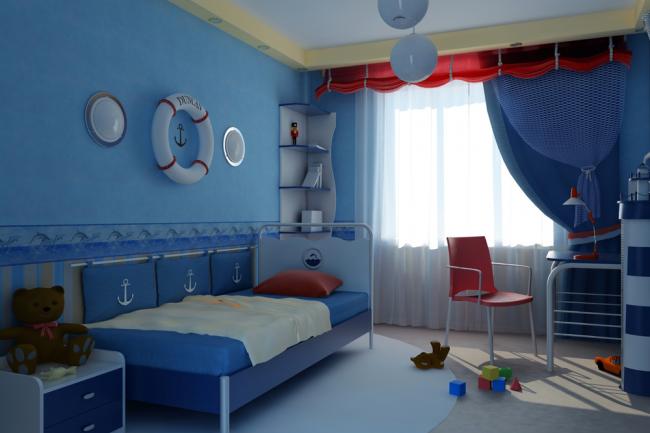 В такой комнате любой малыш сможет почувствовать себя настоящим капитаном