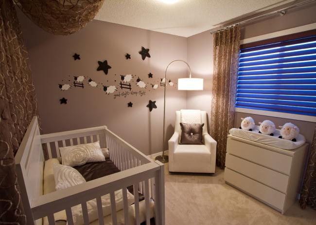 В комнате малыша должно быть уютно