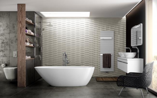 Лаконичность, сдержанность и аутентичные цвета определяют дизайн ванной комнаты в скандинавском стиле