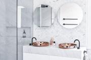 Фото 16 Чистый минимализм: 60+ лаконичных идей для ванной в скандинавском стиле
