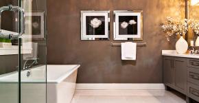 Стеклообои в ванной: дизайнерские особенности, преимущества и уход за ними фото