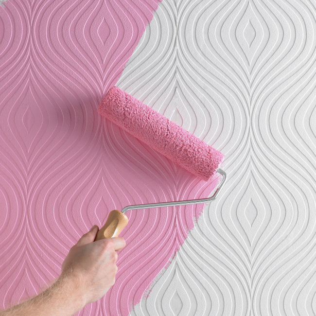 На обои из стекловолокна можно наносить огромное количество слоев краски