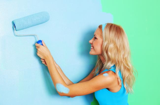 Не каждая краска подойдет для оформления ванной комнаты
