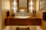 Фото 13 Стеклообои в ванной: дизайнерские особенности, преимущества и уход за ними
