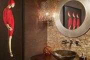 Фото 3 Стеклообои в ванной: дизайнерские особенности, преимущества и уход за ними