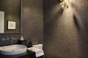 Фото 5 Стеклообои в ванной: дизайнерские особенности, преимущества и уход за ними