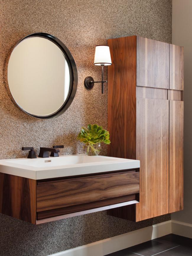 Подвесная мебель в ванной комнате