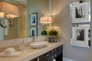 Фото 20 Стеклообои в ванной: дизайнерские особенности, преимущества и уход за ними