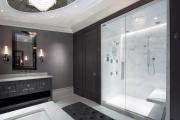 Фото 21 Стеклообои в ванной: дизайнерские особенности, преимущества и уход за ними