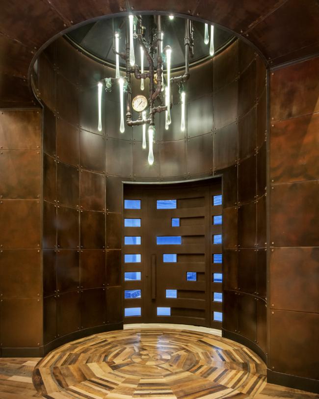 Футуристическая люстра для освещения холла