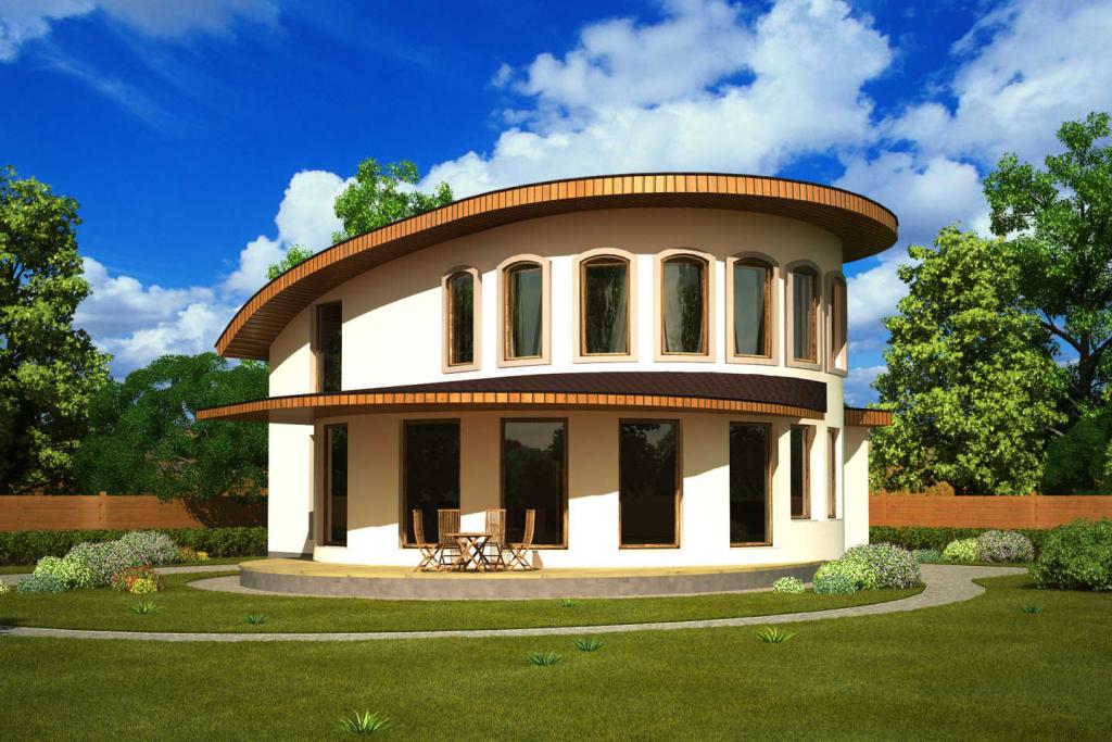 Круглый дом Проекты и строительство 60 фото