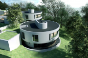 Фото 9 Оригинальные проекты, планировка и возведение круглых частных домов