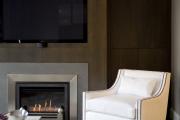 Фото 8 Секреты гармоничного и удобного дизайна гостиной с телевизором над камином