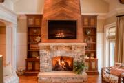 Фото 10 Секреты гармоничного и удобного дизайна гостиной с телевизором над камином