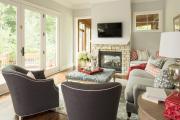 Фото 11 Секреты гармоничного и удобного дизайна гостиной с телевизором над камином