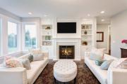 Фото 13 Секреты гармоничного и удобного дизайна гостиной с телевизором над камином