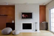 Фото 2 Секреты гармоничного и удобного дизайна гостиной с телевизором над камином