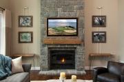 Фото 18 Секреты гармоничного и удобного дизайна гостиной с телевизором над камином