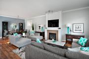 Фото 20 Секреты гармоничного и удобного дизайна гостиной с телевизором над камином