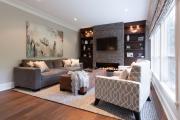 Фото 4 Секреты гармоничного и удобного дизайна гостиной с телевизором над камином