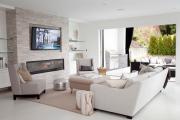 Фото 23 Секреты гармоничного и удобного дизайна гостиной с телевизором над камином