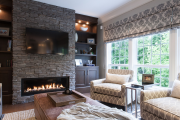 Фото 25 Секреты гармоничного и удобного дизайна гостиной с телевизором над камином