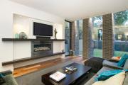Фото 28 Секреты гармоничного и удобного дизайна гостиной с телевизором над камином