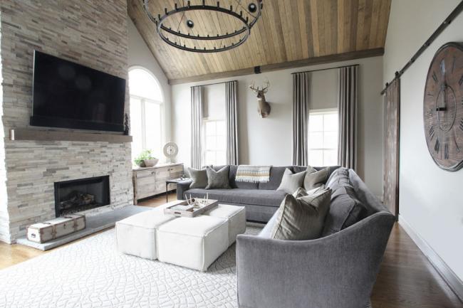 Деревянная балка поможет уберечь телевизор от нагрева