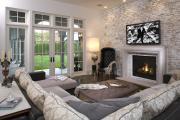 Фото 29 Секреты гармоничного и удобного дизайна гостиной с телевизором над камином