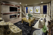 Фото 31 Секреты гармоничного и удобного дизайна гостиной с телевизором над камином