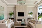 Фото 34 Секреты гармоничного и удобного дизайна гостиной с телевизором над камином