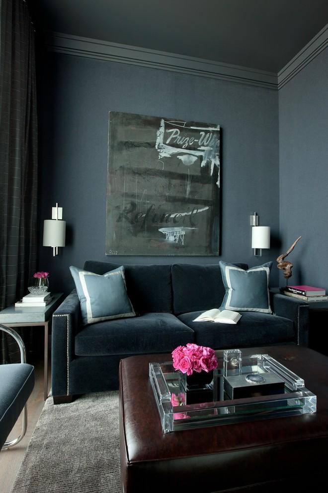 Темно-синие обои Дизайн интерьера ♥️ 100 лучших фотоидей!
