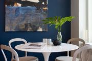 Фото 2 Роскошь индиго — темно-синие обои (70+ фото): психология цвета в интерьере и советы дизайнеров